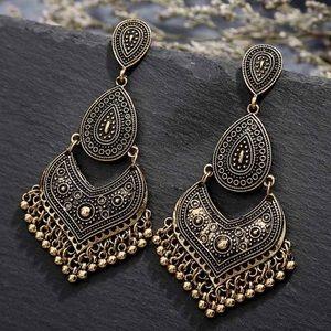 BOGO! Bronze Bohemian Tiered Earrings Teardrop
